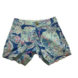 Lilly Pulitzer Callahan Blue Into The Deep Shorts